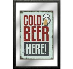 Cold Beer Here! Spiegel (Mirror). Hier bei www.closeup.de