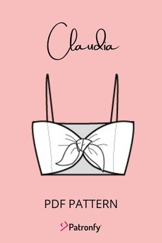 Crop Top Pattern, Tie Front Crop Top, Tie Knots, Pdf Sewing Patterns, Pattern Paper, Paper Size, Diy Tutorial, Woven Fabric, Youtube