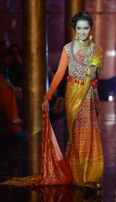 Shraddha Kapoor turns showstopper for JJ Valaya at the BMW India Bridal Week (IBFW) 2014. #Style #Bollywood #IBFW2014 #Fashion #Beauty