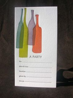 invitation...great bottle shapes, great color.