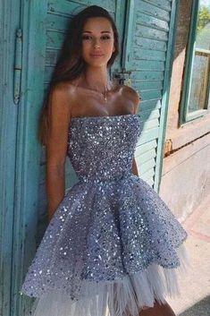 Strapless Homecoming Dresses, Mini Prom Dresses, Hoco Dresses, Tulle Prom Dress, Event Dresses, Dance Dresses, Pretty Dresses, Short Tulle Dress, Sexy Dresses