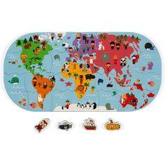 Juratoys Janod Mapa De Los Exploradores Del Baño Amazon Es Juguetes Y Juegos Juguetes Para El Baño Mapa Del Mundo Mapas
