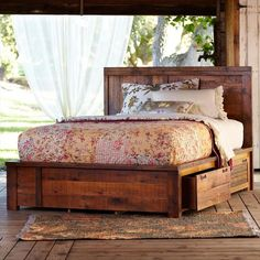#Pallet #Bed With Storage Idea - 10 DIY Furniture Made From Pallets Wood | NewNist