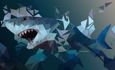 Shark Low Poly #shark #low poly #polygon #graphic design