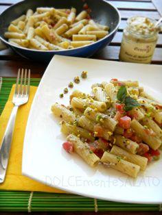 DOLCEmente SALATO: Rigatoni con pesto di melanzane, pomodori e pistacchi