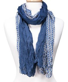 Look what I found on #zulily! Blue Two-Tone Little Dots Scarf by Tickled Pink #zulilyfinds