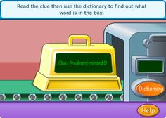 This online activity is terrific for cooperative learning! Kids not only read, but they must use the dictionary. Other reading links here are also good for cooperative learning!
