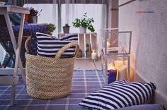Blue balcony | Candles in mini greenhouse - SOCKER