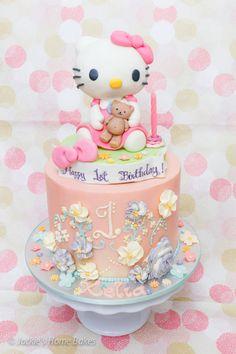 Hello Kitty Shabby Chic Cake by tessatinacakes CakesDecorcom