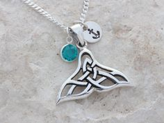 Sterling silver filigree whale tail Necklace by BleshJewelry