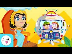"""""""Travel through the time, Ancient Egypt for kids"""" is a video where kids will learn about all the most important aspects of the period: the pyramids, Queen Cl. Ancient Egypt For Kids, Egypt Art, History For Kids, Travel With Kids, Africa, Animation, Adventure, Comics, Ballerina"""