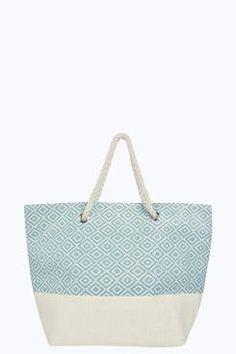 Dora Geo Diamond Beach Bag at boohoo.com