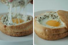 Fried eggs in a bun