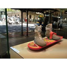 Is these real @lacedbrisbane #dmc #delorean #backtothefuture #hoverboard #airmag #nike #mattell