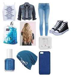 Untitled #113 by gabbybonilla on Polyvore featuring polyvore, fashion, style, Topshop, maurices, Frame Denim, JanSport, Maison Takuya, Keds, Essie and Happy Plugs