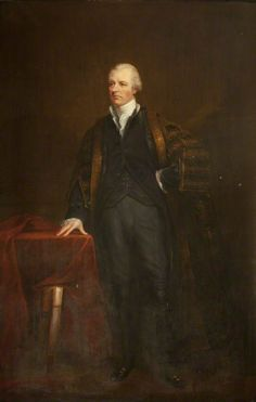 The Right Honourable William Pitt the Younger by James Lonsdale, 1806. Based on the Hoppner portrait, but here he's wearing his Chancellor's robe.