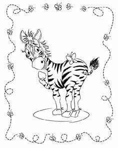Animal Coloring Pages For Kids Zebra