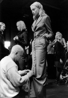 WildGoddess: Lee, you are missed! via shoulderblades: alexander mcqueen backstage at his autumn/winter show joan love looks not with the eyes: thirteen years with lee alexander mcqueen