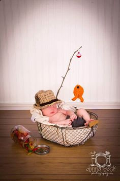 Baby Boy Fishing Hat & Fish SET Newborn 0 3m 6m Crochet Photo Prop Boys Girls Clothes ADORABLE Perfect for All Seasons Daddies Love This by NitaMaesGarden on Etsy https://www.etsy.com/listing/199772019/baby-boy-fishing-hat-fish-set-newborn-0
