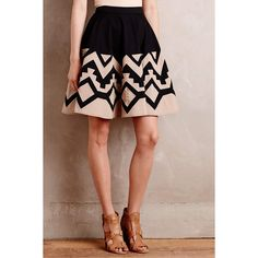 Plenty by Tracy Reese High Sierra Skirt featuring polyvore, fashion, clothing, skirts, brown skirt, circular skirt, circle skirt, plenty by tracy reese and knee length circle skirt