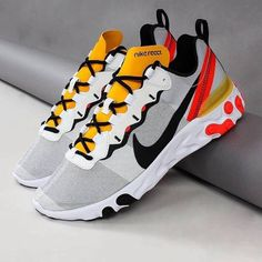 Nike React Element 55 Get on this fresh pair of Nike React Element 55 39 s Sneakers Fashion Outfits, Nike Outfits, Fashion Shoes, Sneaker Heels, Shoes Sneakers, Sneaker Store, Zapatillas Casual, Fly Shoes, Zeina