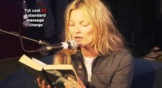 Believe it or not, Kate Moss turned 40 - I know, gag, right?  So 2mark such a milestone, w/a chuckle/2, here's '50 Shades of Kate', where Kate comically reads from the vomit inducing '50 Shades Of Grey' for Comic Relief.  2make it even more comical,  the 'Love Story' theme song was chosen as soundtrack 4this reading.  Happy Birthday Kate!