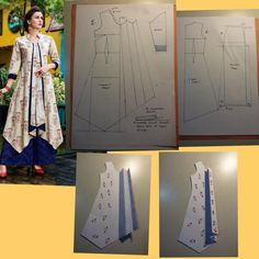 Ideas For Sewing Blouse Tutorial Patrones Frock Patterns, Designer Blouse Patterns, Dress Sewing Patterns, Sewing Patterns Free, Clothing Patterns, Blouse Designs, Free Sewing, Dress Tutorials, Sewing Tutorials