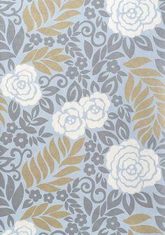 Yvette – Wallpaper from Thibaut Designs - powder room