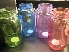 Recycle Reuse Renew Mother Earth Projects: How to make Colored Jars and Glass