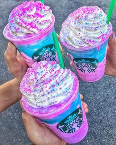 @Starbucks Unicorn Frappuccino assaults all your senses yet only available in selected stores...#Repost- #nonstopeats via ELLE HONG KONG MAGAZINE OFFICIAL INSTAGRAM - Fashion Campaigns Haute Couture Advertising Editorial Photography Magazine Cover Designs Supermodels Runway Models