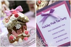 Holiday tea party -menu. What a great idea, to host a comforting tea party during this chilly time of year. You can make this Demo as simple or as extravagant as you want, but a simple pot of tea and holiday cake would be just perfect to serve!