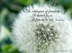Friendship frees us