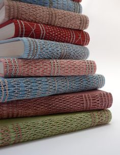 Smocked books - natural dyes: madder, goldenrod and indigo, Kate Bowles 2017