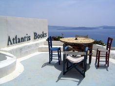 ATLANTIS BOOKS, Oia, Santorini Island, Greece. This is a dream of a bookstore. Perched on the cliffs of this volcanic island in a postcard-worthy Greek villa, it's run by an international collective of artists, writers and activists. As well as organizing theatre and open-air cinema, they set up programs such as the 'book donkey', which brings books to the local schools.