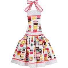 On-Trend Bright Colored Fun Macaron Apron - Sweet! Valentines Day