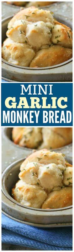 Mini Garlic Monkey Bread - the-girl-who-ate-everything.com