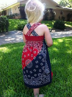 Naptime = Craft time!: Quick & Adorable Bandana dress!