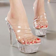 36.61$  Buy now - https://alitems.com/g/1e8d114494b01f4c715516525dc3e8/?i=5&ulp=https%3A%2F%2Fwww.aliexpress.com%2Fitem%2F2016-Fashion-New-Women-Sandals-Big-Size-43-Sexy-Rome-Sandalias-14CM-Ultra-High-Spike-Heels%2F32627818942.html - 2016 Fashion New Women Sandals Big Size 43 Sexy Rome Sandalias 14CM Ultra High Spike Heels Crystal Princess Shoes 36.61$
