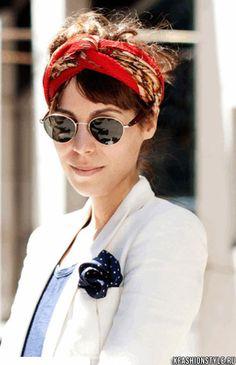 30 идей как красиво завязать платок на голове