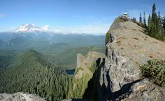 High Rock summit. Ashford, 3.2 miles RT, 1365 elev gain.  Photo by Ken Giesbers.