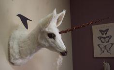 Faux Präparatoren Unicorn Kopf Büste von Sovaeart auf Etsy