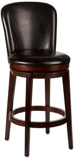 Amazon Com Hillsdale Cameron Tall Swivel Brown Bar Stool