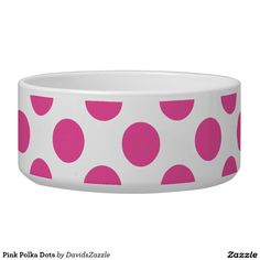 Pink Polka Dots Dog Bowl This design is available on many products! Click the link and hit the 'Available On' button near the product description to see them all! Thanks for looking! @zazzle #polka #dots #decor #home #design #dog #bed #pet #animal #friend #family #accessory #accessories #buy #sale #shop #shopping #owner #fun #sweet #fido #woof #awesome #cool #chic #modern #style #bed #collar #leash #bowl #tag #color #pink