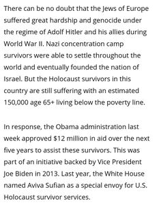 Reparations For Slavery, Holocaust Survivors, Throughout The World