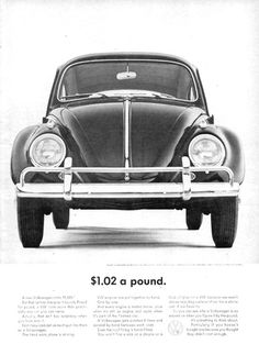 VW Volkswagen Beetle USD 1-02 A Pound 1963 - Mad Men Art: The 1891-1970 Vintage Advertisement Art Collection