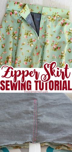 Skirt lining adds body and volume but it can get tricky when it involves adding a zipper too! But lining a skirt (or a dress) is a lot easier than one might think! Here's how to sew a zipper on a skirt with lining the easy peasy way! #easypeasycreativeideas #sewing #sewingtips #sewingtutorials #sewinghacks #sewingforbeginners