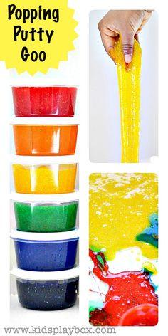 Colorful Popping Putty Goo | Amazing sensory play idea from Kids Play Box #sensoryactivitiesforkids #slime