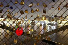 Love locks, a sort of tradition. @ Pont des Arts, Paris, France