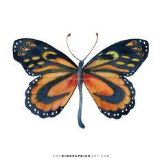 72 Cleobaea Butterfly Original or Giclee by AmyKirkpatrickArt