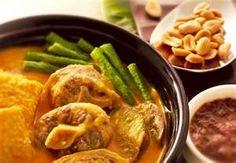 kare-kare with bagoong sauce